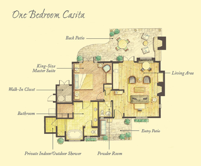 Floor plans mayacama casitas timbers collection for Casita plans for homes