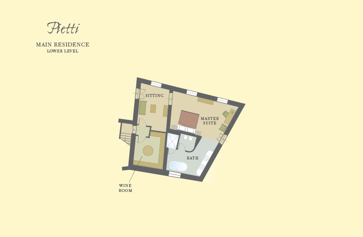 Pietti Lower Level Floor Plan