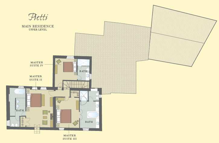 Pietti Upper Level Floor Plan
