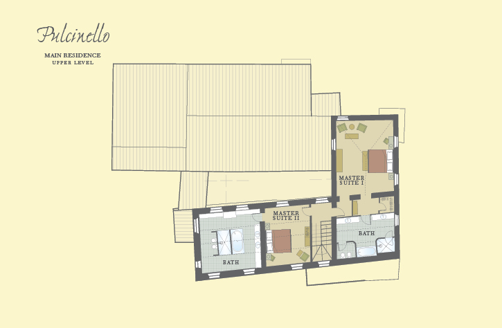Pulcinello Upper Level Floor Plan
