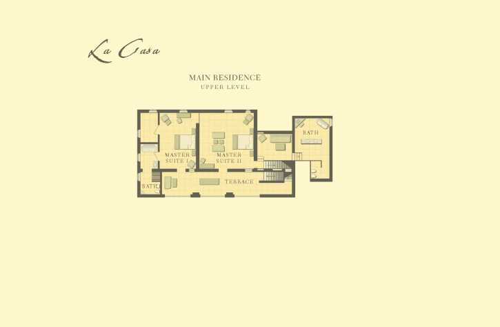 Castello di Casole - La Casa Upper Level Floor Plan