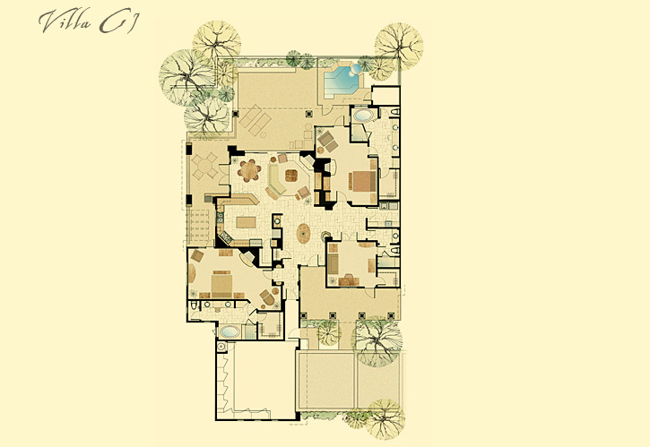 Rocks Luxury Residence Club Villa C1 Floor Plan