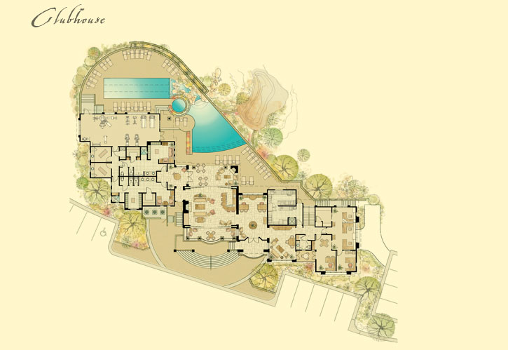 Rocks Luxury Residence Club Clubhouse Floor Plan