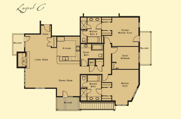 that this is a typical floor plan but each residence varies in layout