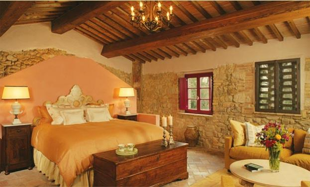 Perfectly Furnished The Master Suite In Casale Escaiole Breathes Rustic Italian Comfort